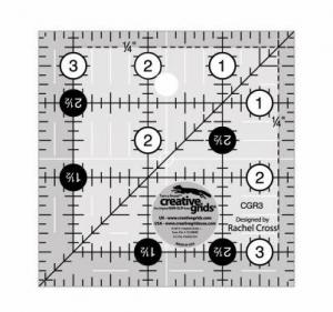 "creative grids 3 1/2"" square ruler"