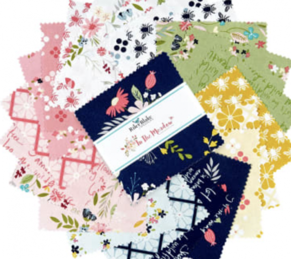 """in the meadow fabric collection 5"""" precut squares"""