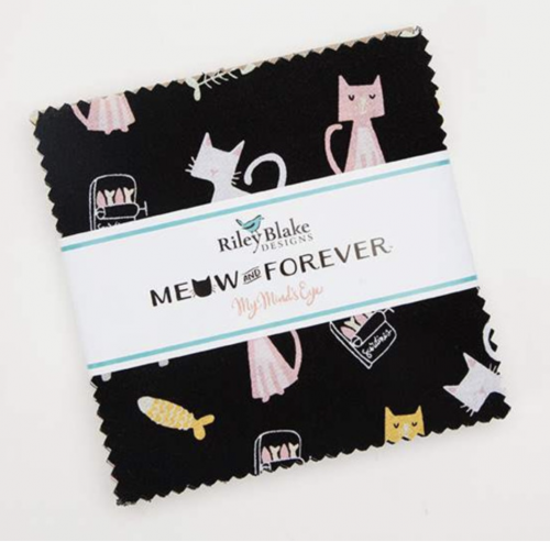"meow or never 5"" precut squares"