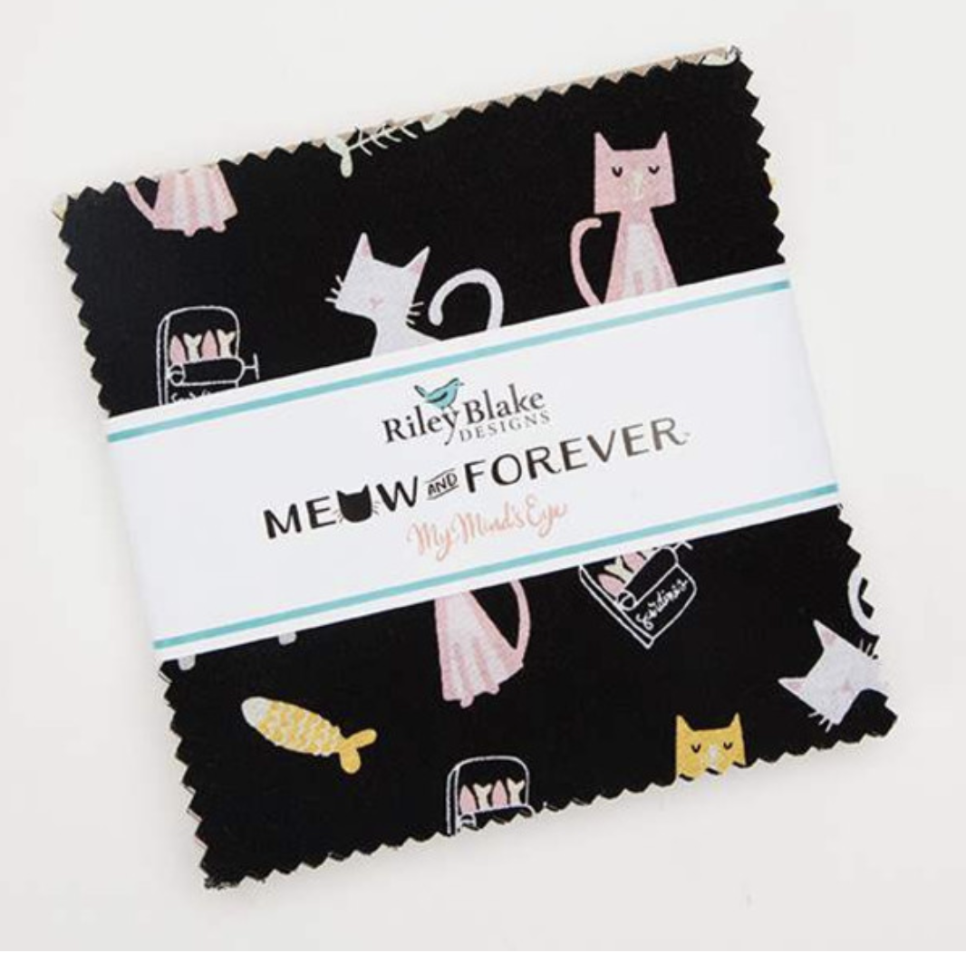 """meow or never 5"""" precut squares"""