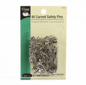 dritz curved safety pins