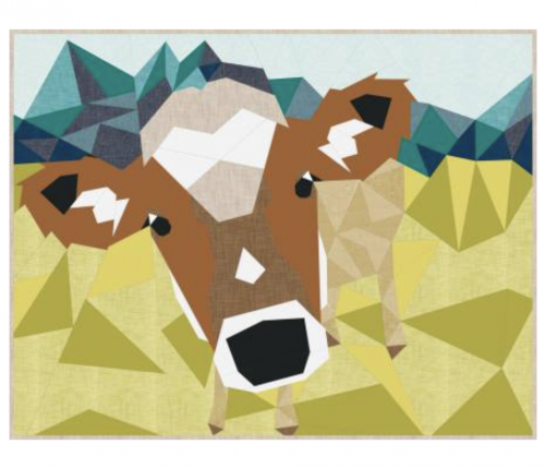 cow abstractions quilt pattern by violet kraft