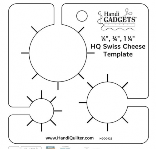 handi gadget swiss cheese ruler