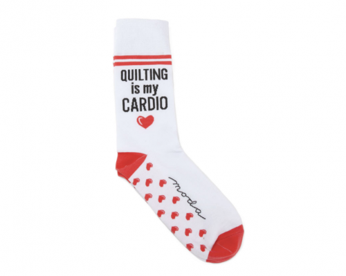 quilting is my cardio socks by moda fabrics