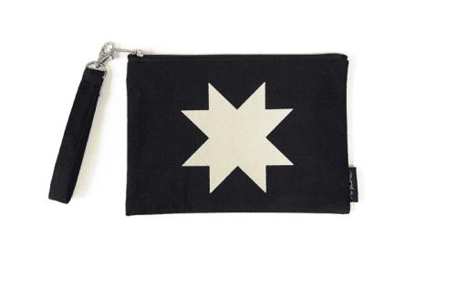 Quilt Block Zipper Bag Black
