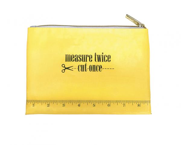 measure twice zippered bag