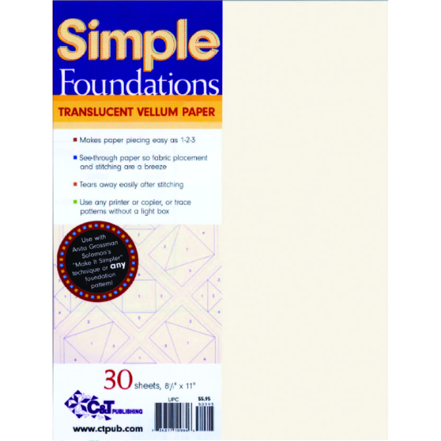 simple foundations vellum for paper piecing