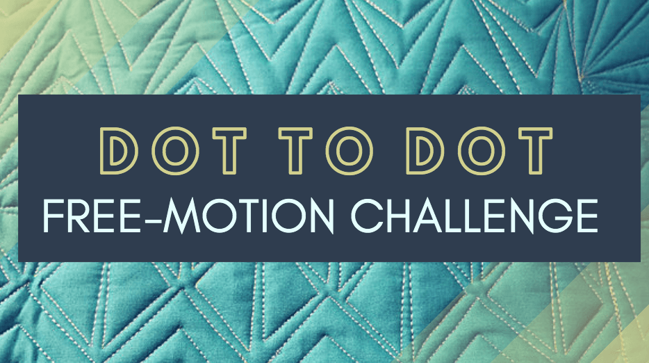 dot to dot free-motion challenge quilting along