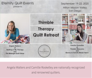 quilt retreat with angela walters and camille roskelley