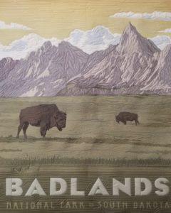 badlands national park fabric panel