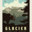 Glacier national park poster panel