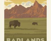 badlands national park poster fabric panel