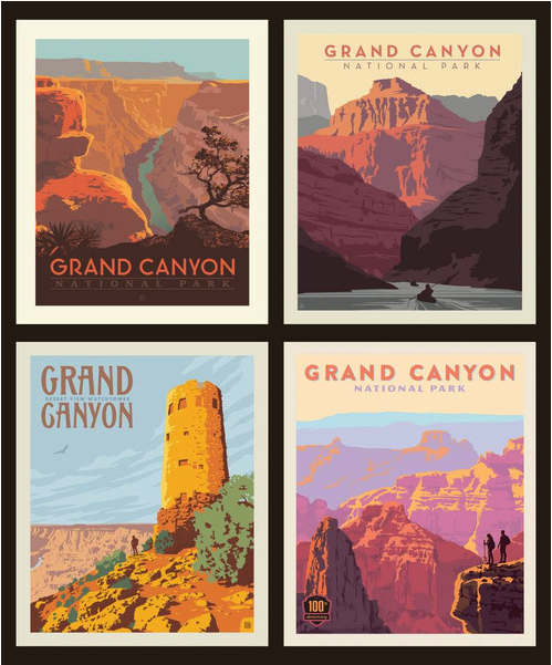 grand canyon national park pillow panels