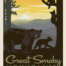 smoky mountains national park quilt fabric panel