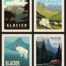 glacier national park pillow panel