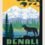 denali national park fabric quilt panel