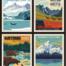 alaska national parks pillow panel