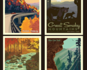 smoky mountain national park pillow panel