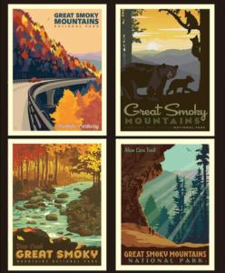 smoky mountain national park pillow panel