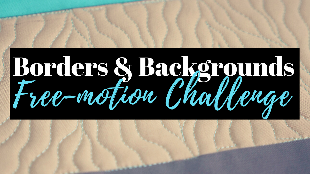 free-motion challenge quilting along borders