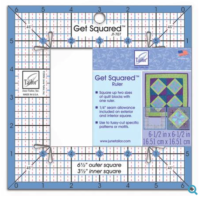"""get squared ruler 6 1/2"""" and 3 1/2"""""""