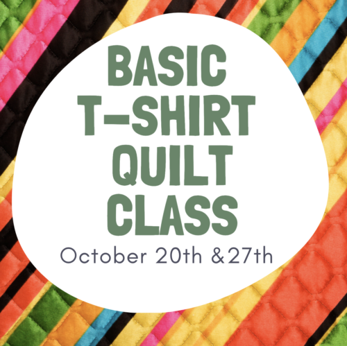 quilting is my therapy t-shirt class