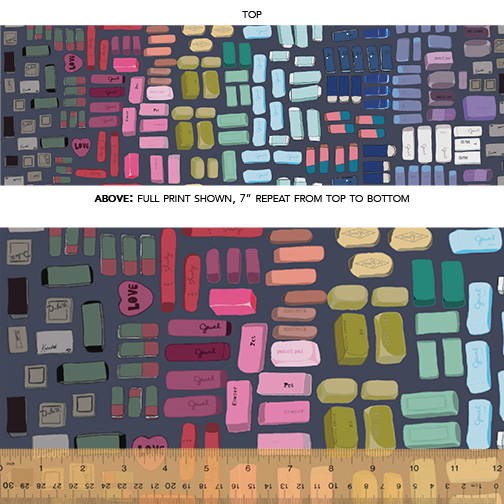 pencil club quilt fabric heather givans