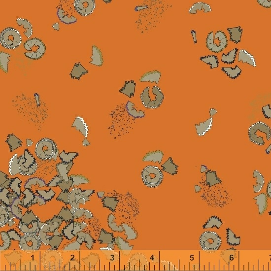 orange pencil club fabric