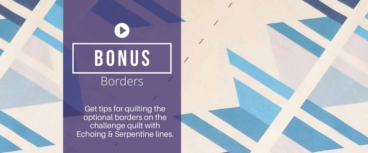 how to machine quilt borders
