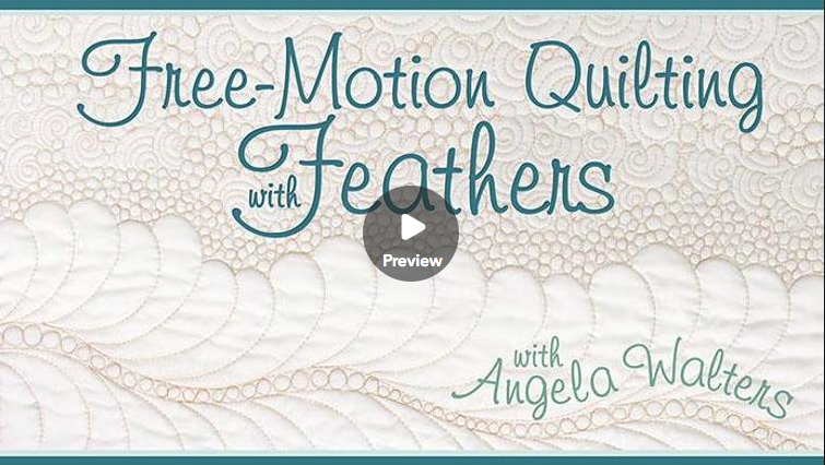 free-motion machine quilting with feathers online class