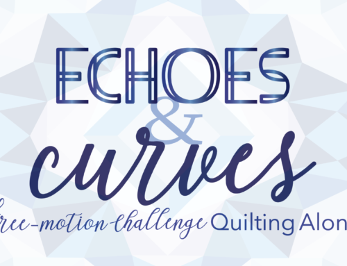 A Brand New Free-motion Challenge Quilting Along: Echoes & Curves