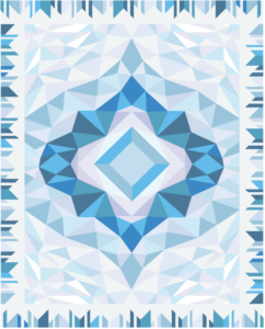 free-motion challenge quilting along with borders