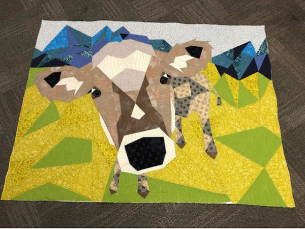 cow abstractions quilt kit
