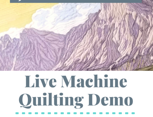 Join Me for A LIVE Machine Quilting Demo on YouTube – March 9th at 11am CT