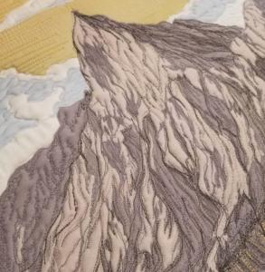 thread painted mountain