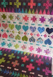 tula pink decorative stitches quilt kit