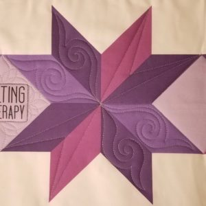 how to machine quilt star blocks