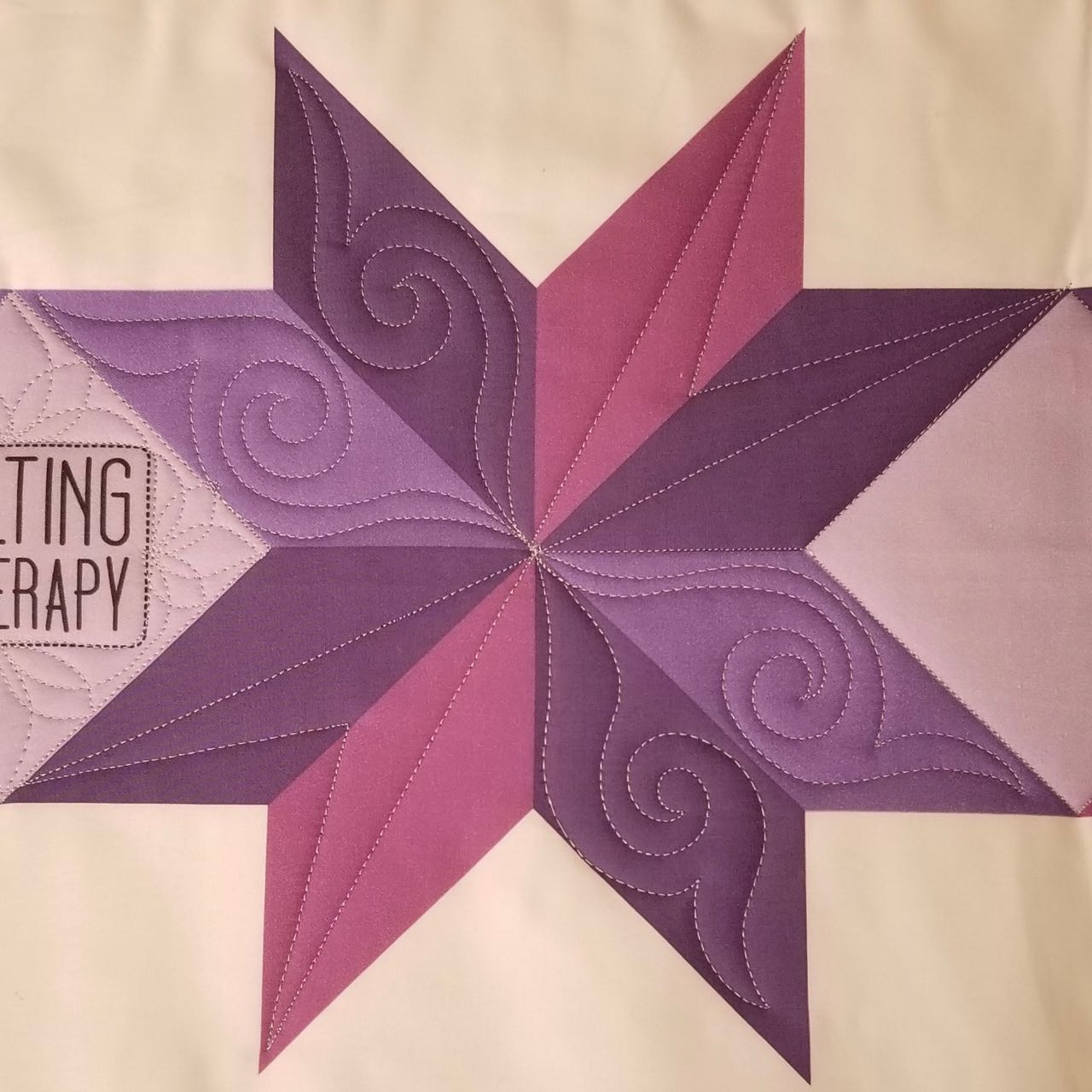 how to machine quilt star blocks