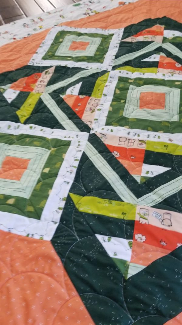 dew and moss quilt fabric