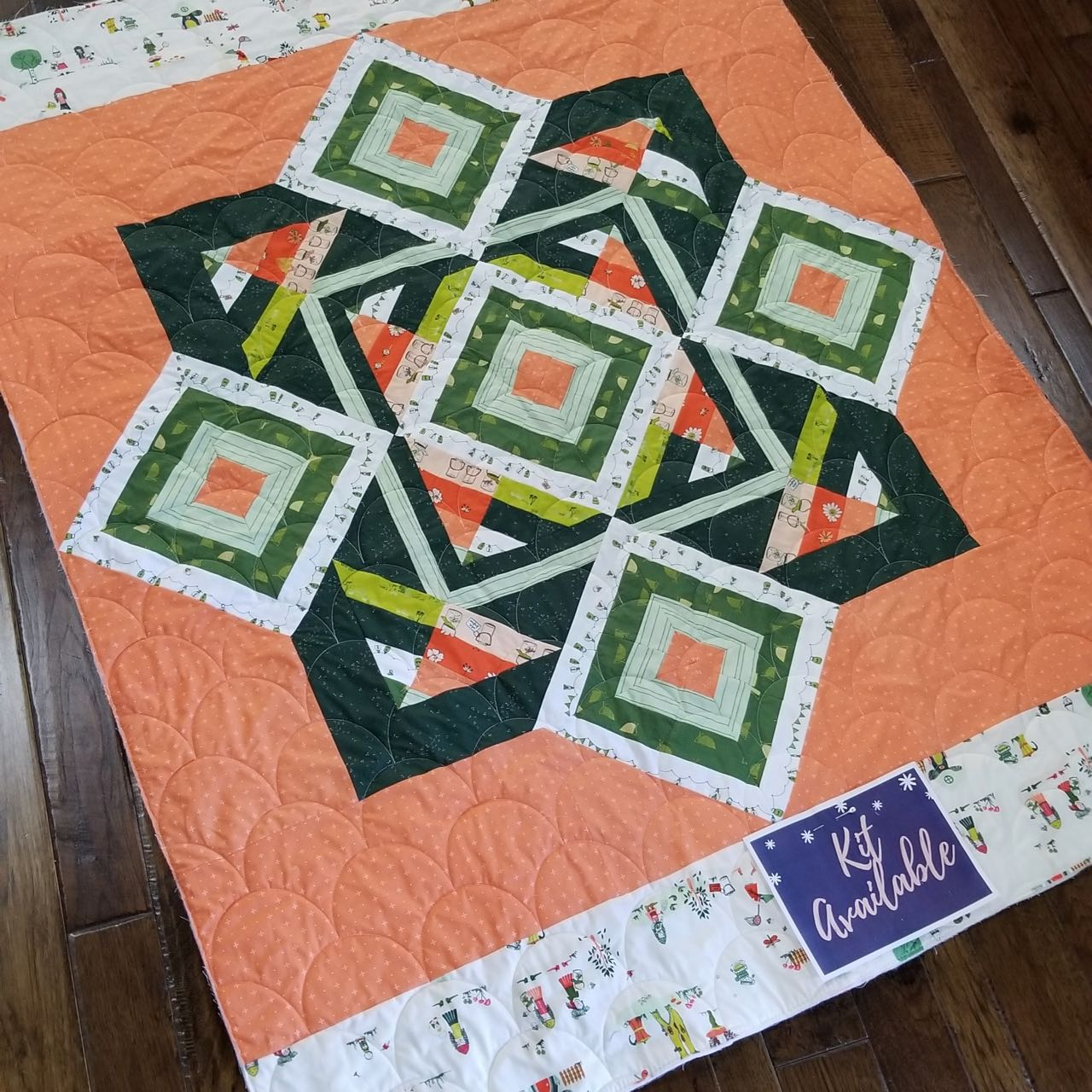 gnomesville quilt kit featuring dew and moss