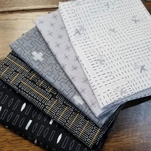 shades of gray fat quarter bundle