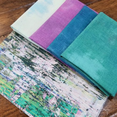 pink and green grunge fat quarter bundle