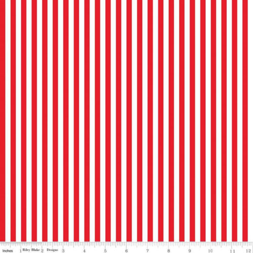 red white striped fabric c555