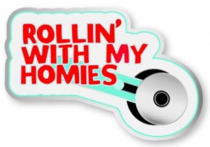 rolling with my homies enamel pin