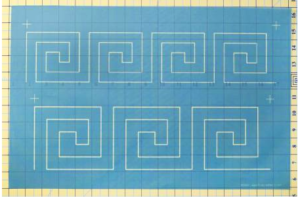 greek key border stencil H30641