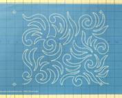 wild swirls full line machine quilting stencil