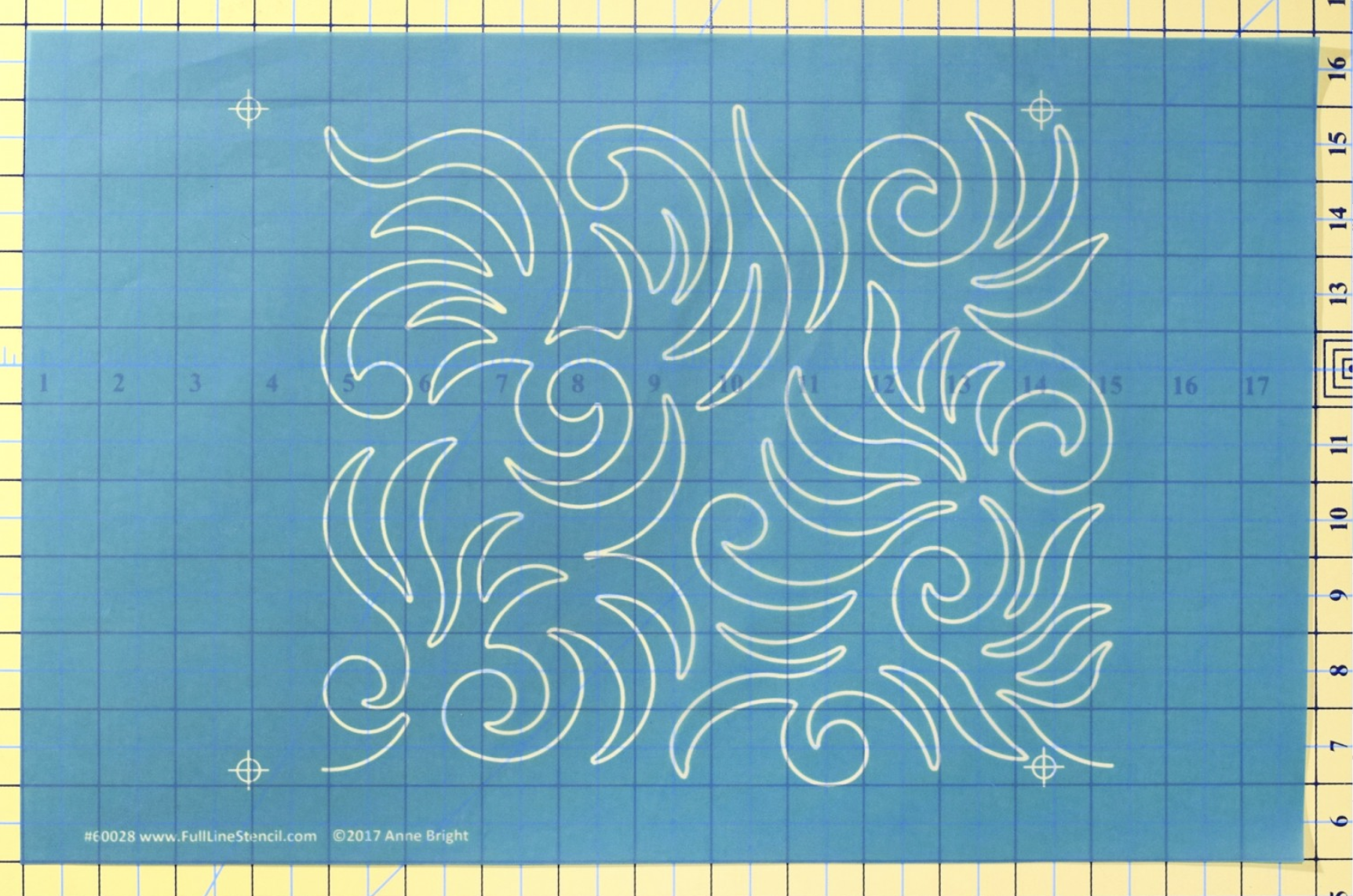wild swirls full line machine quilting stencil