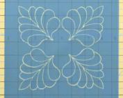 four corner feather machine quilting stencil