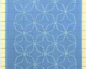full line angled sashiko stencil