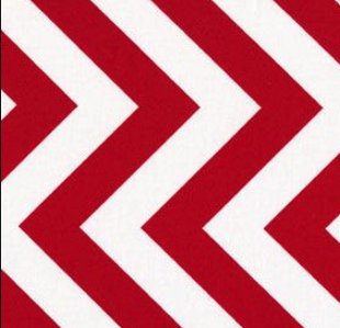 half moon modern red zig zag fabric 32349-15
